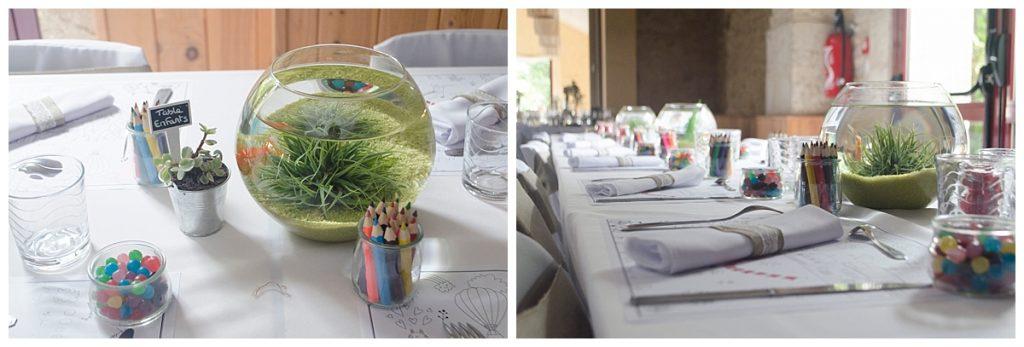 décoration de mariage table des enfants