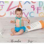 photo bébé peinture