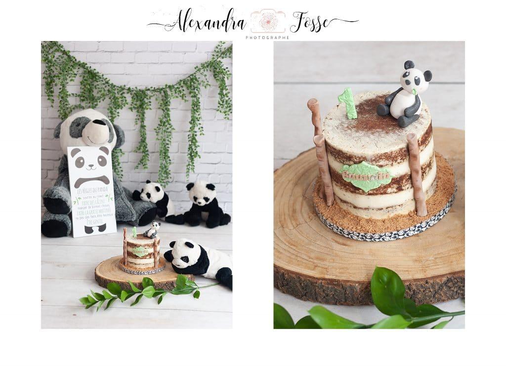 gateau thème panda